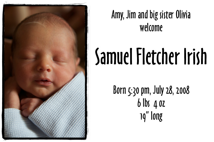 Welcoming Samuel Fletcher Irish
